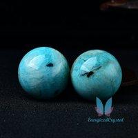 Blue Amazonite Crytsal Sephere Reiki Cura Crystal Ball Meditation Home Decor