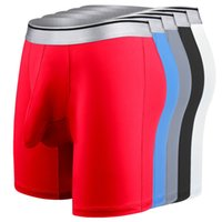 Lungo Iyunyi Boxers Biancheria intima Uomo Ghiaccio Seta Seta Cook Underpants Grand Big Bere Design Design Shorts Mens Casual Boxer Bikini Mutandine maschili
