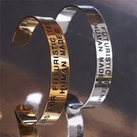 Bracelet Track Men Women 1 Quality Unisex Couples Jewelry Lettering Accessories