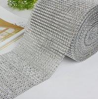 "10yard roll 4.75"" 24 Rows manmade Diamond Mesh yards wrap Crystal trim Wrap sparkle bling ribbon Wedding Decoration"