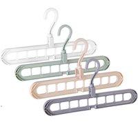 9 حفرة قناعات توفير مساحة 360 الدورية شماعات ماجيك متعددة الوظائف للطي خزانة التجفيف الملابس تخزين NHD5914