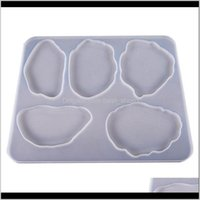 Baking Moulds Bakeware Kitchen Dining Bar Home Garden Drop Delivery 2021 Hand Made Table Decoration Mold Diy Epoxy Resin Sile Irregular Shape