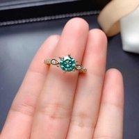 الأزياء الأخضر مويسانيت خواتم رائعة الزفاف الاشتباك مجوهرات للنساء هدية عيد الحب غير عادي