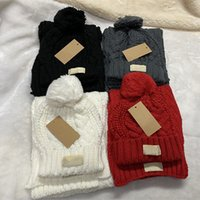 Designer de moda beanie cachecol homens de luxo de malha lenços chapéu de esqui máscara mulheres inverno esportes ao ar livre conjunto de alta qualidade
