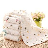Baby Towels 100% Cotton Gauze Newborn Burp Cloths Muslin Baby Face Towels Baby Bath Wrap Infant Boys Girls Washcloth 17 Designs 10pcs 723 Y2