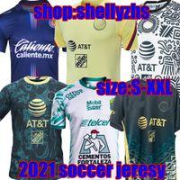 21 22 México Club América Futebol Jerseys Leon Third Away 2021 2022 Camisetas Tigres Unam Chivas Cruz Azul 3rd Liga Max Treinamento Camisas de futebol Maillot de pé
