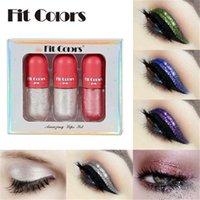 Fit Renkler 6 Renk Glitter Sıvı Göz Farı Kristal Astar Göz Farı Sopa 3 adet / takım Elmas Pırıltılı Mini Gölgeler Seti
