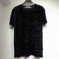 Bluz Bayan Erkek Vogue Tasarımcı T-shirt Seksi Sheer Parti Kadın Mektup Baskı Için Polos Giymek Shirt Top Yaz Hip Hop Streetwear Moda Tee Gece Kulübü Bar
