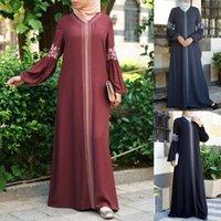 Casual Dresses Dubai Abaya Turkish Bangladesh Woman Jilbab Femme Muslim Dress Islamic Clothes Caftan Marocain Kaftan Botas De Mujer