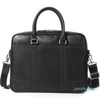 Designer- Genuine Leather Men's Briefcase Handbag laptop Bag Cross Section Men's Computer Bag Business Affairs Bags