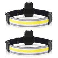 Scheinwerfer im Freien Multifunktionale 5 Watt COB LED Scheinwerferlampe Tragbare Verstellbare Batterie USB Wiederaufladbare Kopflampe Fackel