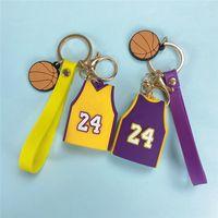 كرة السلة جيرسي الحلي الحلي الهاتف الخليوي الأشرطة حقيبة قلادة هدية الظهر المعلقات سيارة محفظة مفتاح سلسلة المعادن pvc الفانيلة 3 ألوان