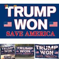 Eu estou de volta !! 3 * 5 pés Trump Won Flags Guardar America Bandeira Americana Eleitoral Presidencial Banner 2024 Donald Trump Garden House Fly Flaging Pendurado 90 * 150cm