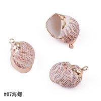 15 Styles Naturel Shell Charms Tiny Conch Cowrie Sea Shells Pendentif pour Bricolage Bijoux Bracelet Collier 1957 Q2