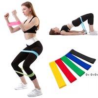 Bandes de résistance Yoga Body Building Training Court De Fitness Effects Bande Tension haute Tension Muscle pour la cheville à la cheville GWC7008