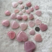 Quartz naturale al quarzo rosa a forma di cuore rosa cristallino intagliato palma amore cura della pietra preziosa amante Gita pietra cristallo Gemme HPKAL LU4ER 929 R2