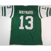 Özel 009 Gençlik Kadınlar Vintage Don Maynard # 13 Dikişli Retro Futbol Forması Boyutu S-5XL veya Özel Herhangi Bir Ad veya Numara Forması