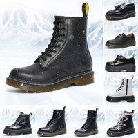 Dr Martin Çizmeler Tasarımcı 1460 Erkek Kadın Moda Martins Kış Boot Klasik 8-Delik Platformu Ayakkabı Ayak Bileği Deri Dantel-Up Patik