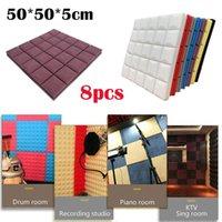Wall Stickers 8pcs Soundproof Sponge Sticker Acoustic Foam Panel Stop Absorption Studio Ktv Home Decoration