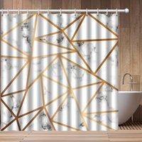 Mármore design chuveiro cortinas casa casa de banho decoração poliéster cortina de chuveiro à prova d 'água banho cortina de banho com ganchos