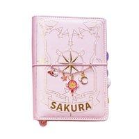 3 Styles Card Captor Sakura Anime Action Figure Papier imprimé Manuel Magic Notebook Jolie Lunette Journal Livre Star Set de papeterie 210611