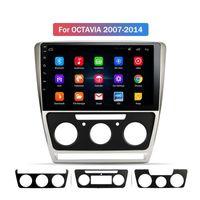 자동차 멀티미디어 플레이어 Android 자동차 DVD 라디오 블루투스 GPS 네비게이션 시스템, Mirror Link가있는 Octavia 2007-2014