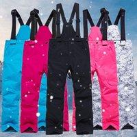 Pantalon de ski enfants coupe-vent étanche sport extérieur enfants enfants hiver chauds neige pantalons garçons filles ski skier pantalon de snowboarding
