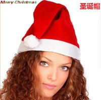 Festive Supplies Home & Gardenred Santa Claus Hat Ultra Soft Plush Cosplay Decoration Adults Christmas Party Hats A7310 300Pcs Drop Delivery