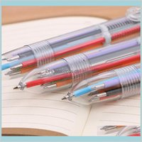 Writing Supplies Office School Business Industrial Ballpoint Pens 6 Color 0Dot5Mm Refills In 1 Multi Colors Transparent Ball Point Pen