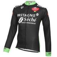 الشتاء الصوف الحراري فقط جاكيتات ركوب الدراجات ملابس طويلة جيرسي روبا ciclismo 2015 bretagne-seche حجم الفريق: XS-4XL