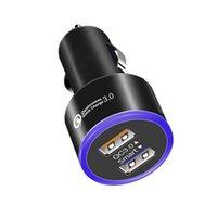 서두른 새로운 2.0A 점프 스타터 헤일로 LED 듀얼 USB 자동차 충전기 모든 자동차 스타일링 범용 Coche 드 Cargador Cigarette 라이터 켄터 펜션