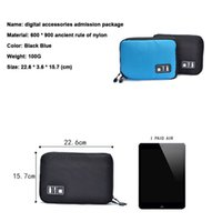 Storage Bags Wholesale- Electronic Accessories Bag For Hard Drive Organizers Earphone Cables USB Flash Drives Travel Case Digital 4RBA
