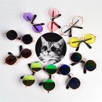 1 قطع الكلب الحيوانات الأليفة نظارات للمنتجات العين ارتداء الكلب النظارات الشمسية صور الدعائم الملحقات الحيوانات الأليفة اللوازم القط نظارات