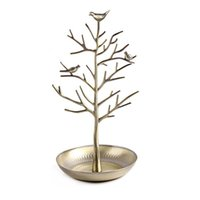Tree Jewelry Stand Display Earring Necklace Holder Birds Decor Organizer Rack Tower Hooks & Rails