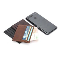 Card Holders Ultra Thin Men Ultra-thin Small Holder Wallet PU Leather Mini Solid Color Coin Purse Credit Bank For Case