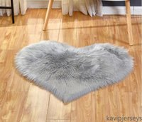 DHL Plush Area Rugs Lovely Peach Heart Carpet Home Textile Multifunctional Living Room Heart-shaped Anti Slip Floor Mat
