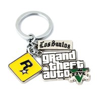 Hot Game Ps4 5 Theft Car Fans Xbox Pc Rockstar Keychain Holder 4.5cm Sieraden Llaveros Sierades