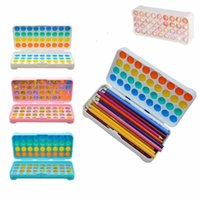 Decompression Toy Dimple Fidget Pencil Case Stationery Storage Box Push Sensory Squeeze Bubble Stress Reliever Rainbow Pendant Bag 4225 Q2