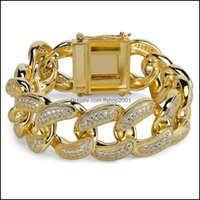 Link, Chain Jewelryluxury Designer Jewelry Men Bracelets Hip Hop Jewlery Gold Sier Bling Diamond Tennis Mens Iced Out Bracelet Fashion Bangl