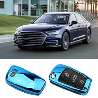 Auto Soft TPU Key Case For Audi A1 A3 A4 A5 Q7 A6 C5 C6 Vehicle Holder Shell Remote Cover Car Styling Keychain