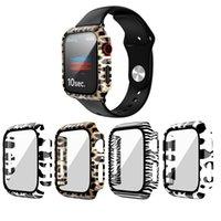 PC 레오파드 프린트 프로텍터 케이스 Apple Iwatch Watch SE 커버 시리즈 6 5 4 3 범퍼 40mm 44mm 38mm 42mm 44mm 38mm 42mm