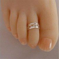 5pcs 925 anello a pedale in argento 925 donne eleganti anello antico regolabile anello antico, monili spiaggia del piede1 828 T2