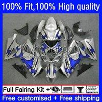 Molde da injeção corporal para Suzuki K7 GSXR 1000 CC 1000CC 07 08 Bodywork 27No.43 Chamas azuis GSXR1000 GSX-R1000 2007 2008 GSXR1000CC GSXR-1000 2007-2008 Kit de Feira do OEM