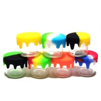 6ml Mini Glass jars silicone container oil rigs containers Empty Bottle Water pipe lid colorful jar storage fit Wax vape dab tool
