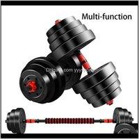 Dumbbells Equipments Supplies Sports Outdoors Drop Delivery 2021 A Set Of Adjustable Weight Lifting Handles 2Pc Bars1Pc 40Cm Dumbbell Connect