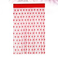 Party Decoration 2pcs Valentine's Day Curtains Heart Pattern Door Curtain Po Backdrop For Wedding