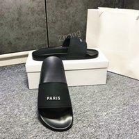 Moda Slayt Sandalet Terlik Erkekler Kadınlar Için Orijinal Kutusu Ile Sıcak Tasarımcı Unisex Plaj Flip Flop Terlik 2021 En İyi Kalite