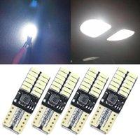 뜨거운 12V 24V 아니오 극성 CANBUS T10 LED 전구 4014SMD 24 LED 인테리어 웨지 빛 194 168 W5W LED 램프 화이트 앰버 자동차