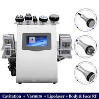 High quality slimming 6 In 1 Vacuum Laser Radio Frequency Rf 40k Body Cavitation Lipo Liposuction Ultrasonic Machine