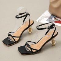 Sandals High Heels Women's Summer Fashion Crystal Heel Women Shoes Casual Breathable Womens Platform Slides